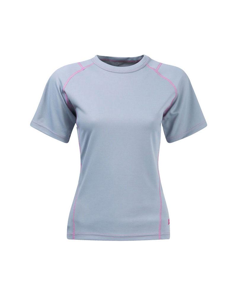 Mountain Equipment Women's Catalyst T-Shirt Titanium/Magenta 0