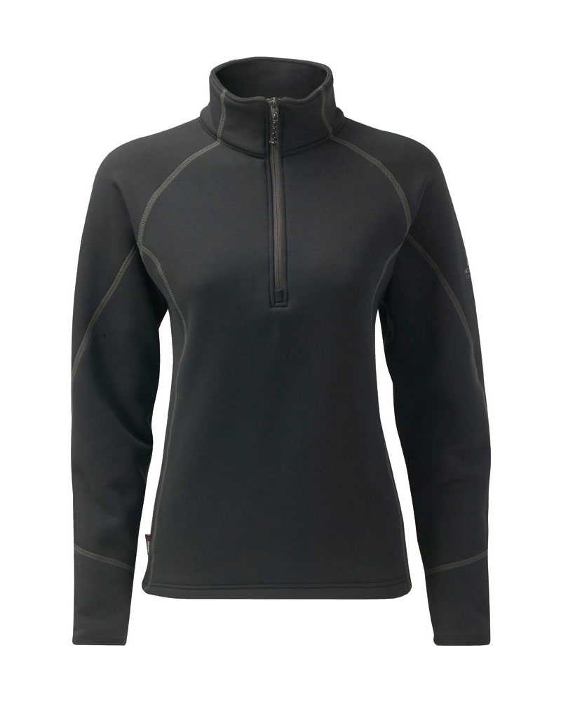 Mountain Equipment Women's Aiguille Powerstretch Zip Black/Graphite Stitch 0