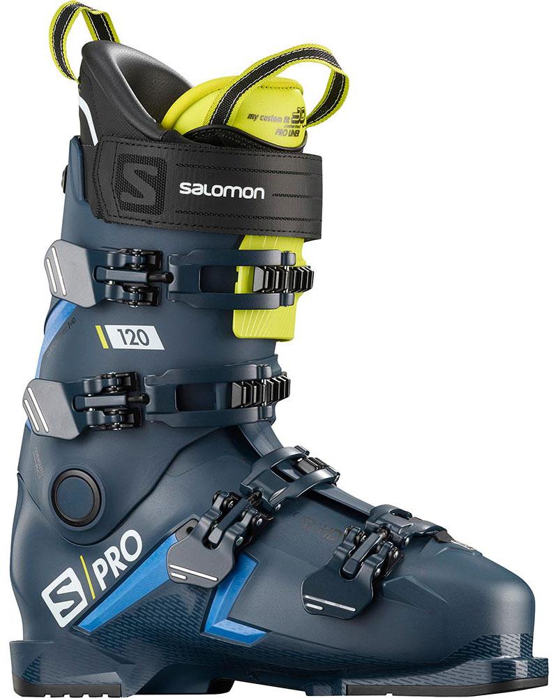 Salomon Men's S/PRO 120 Ski Boots 2019 / 2020 Petrol Blue/Race Blue/Acide Green 0