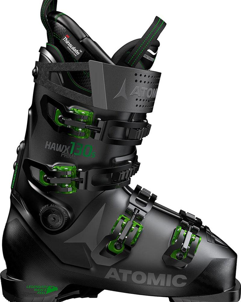 Atomic Men's Hawx Prime 130 S Ski Boots 2019 / 2020 Black/Green 0