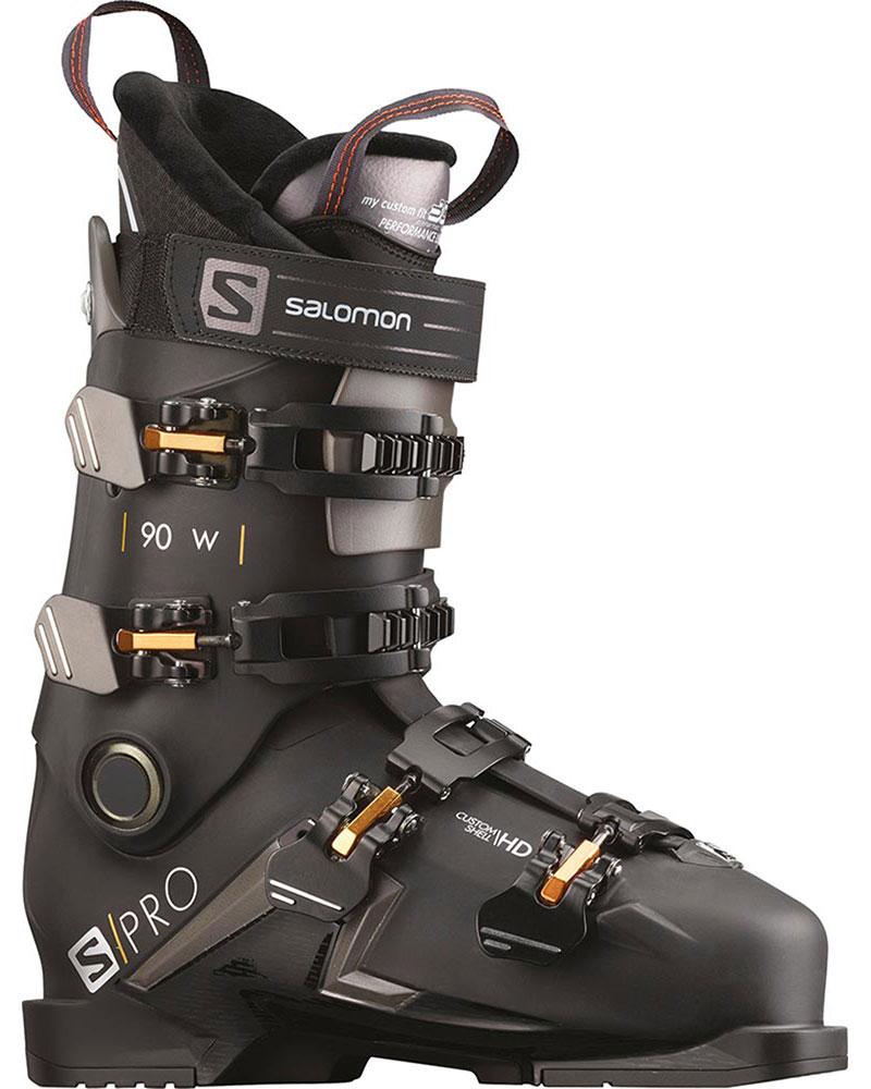 Salomon Women's S/PRO 90 W Ski Boots 2019 / 2020 Black/Belluga/Gold Glow 0
