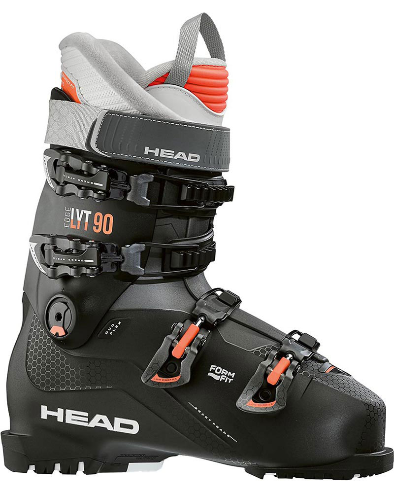 Head Women's Edge Lyt 90 W Ski Boots 2019 / 2020 Black/Salmon 0