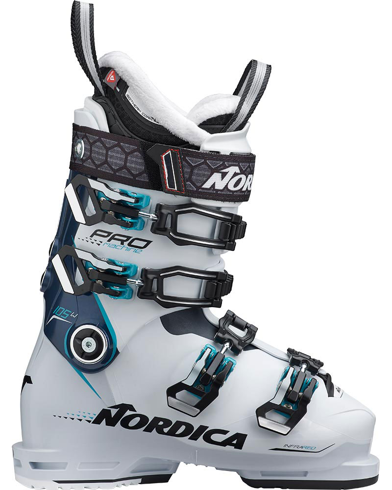 Nordica Women's Promachine 105 W Ski Boots 2019 / 2020 White/Blue/Light Blue 0