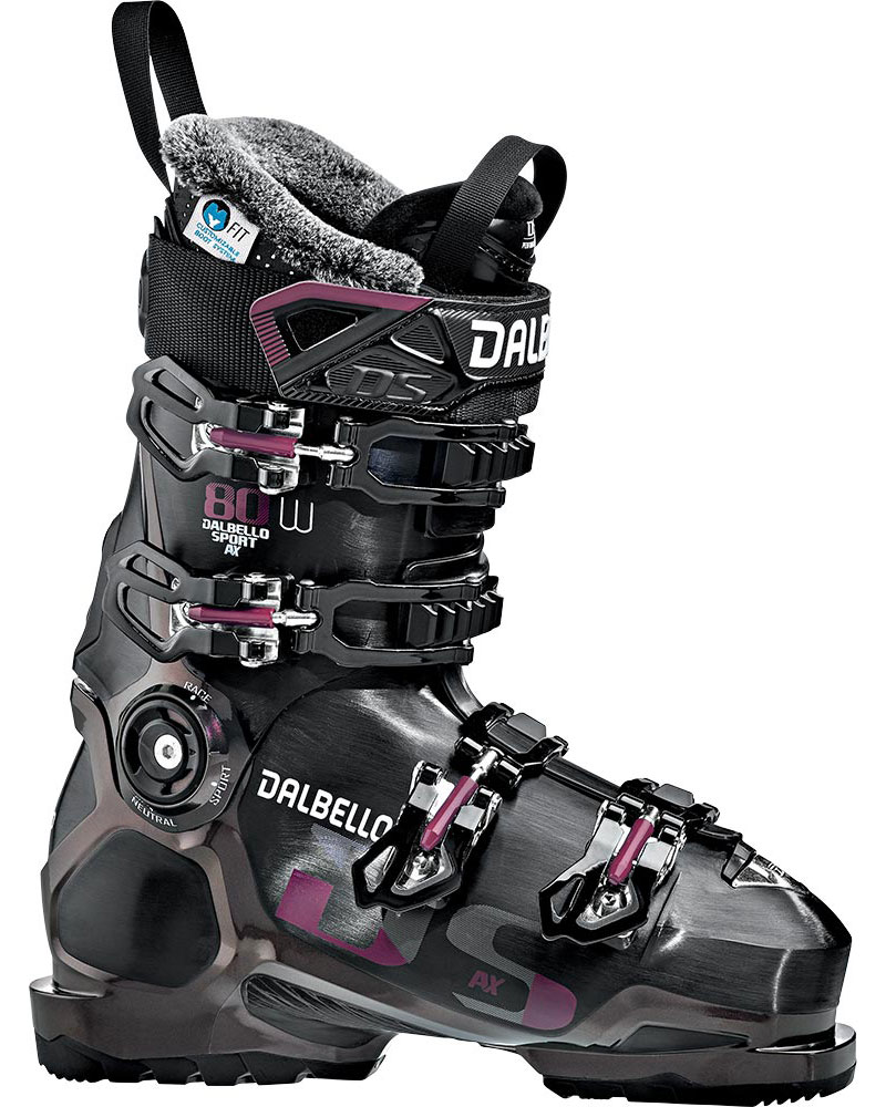 Dalbello Women's DS AX 80 W Ski Boots 2019 / 2020 Black/Opal Ruby 0