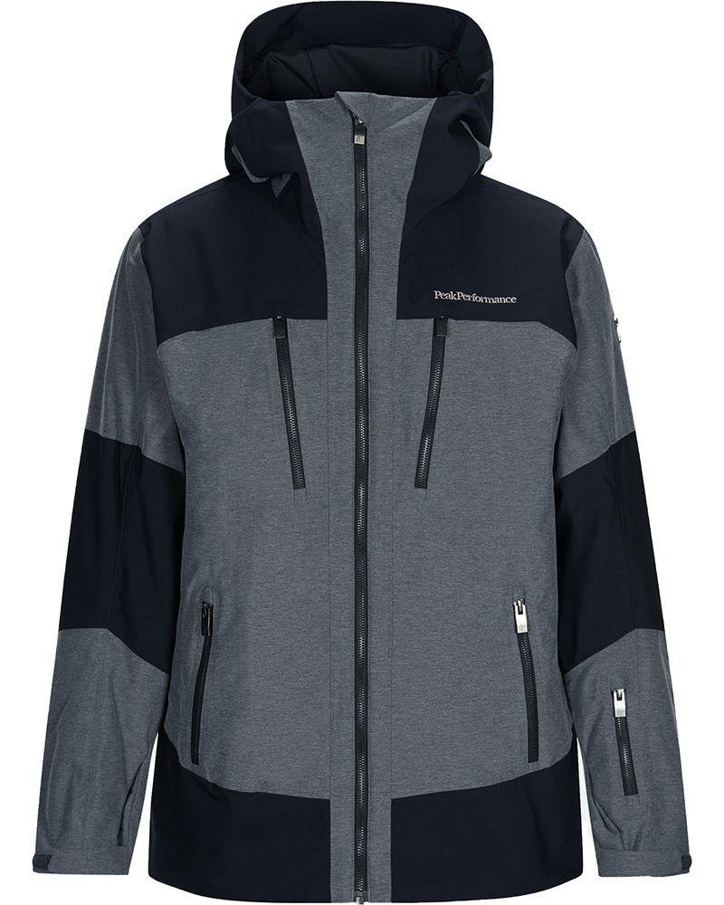 Peak Performance Men's Balmaz Ski Jacket Black/Grey Melange 0