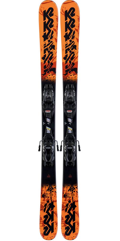 K2 Kids' JUVY 4.5 Skis + FDT JR black SET Bindings 2019 / 2020 0