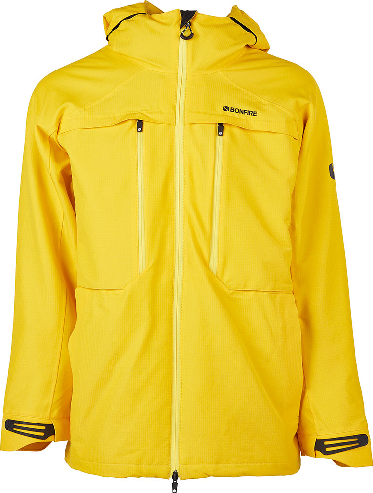Bonfire Men's Terra 2L Stretch Snowboard Jacket 2019 / 2020 Yellow 0