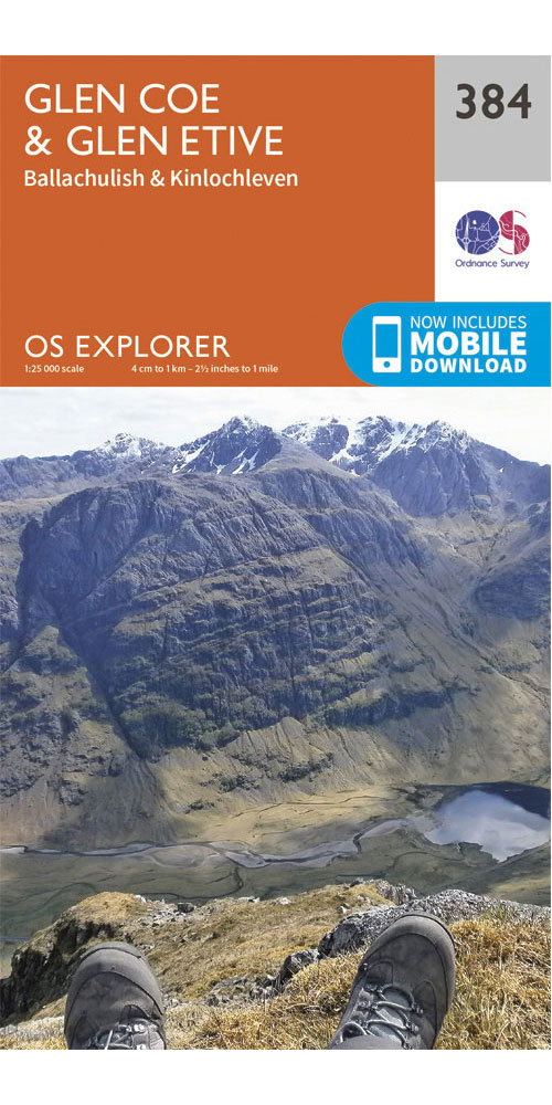 Ordnance Survey Explorer 384: Glen Coe  0