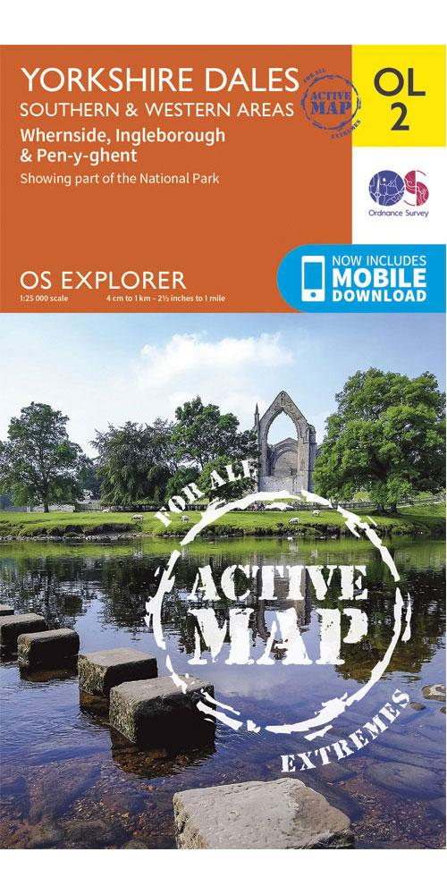 Ordnance Survey Active Explorer OL2: Yorkshire Dales – Southern & Western Areas  0