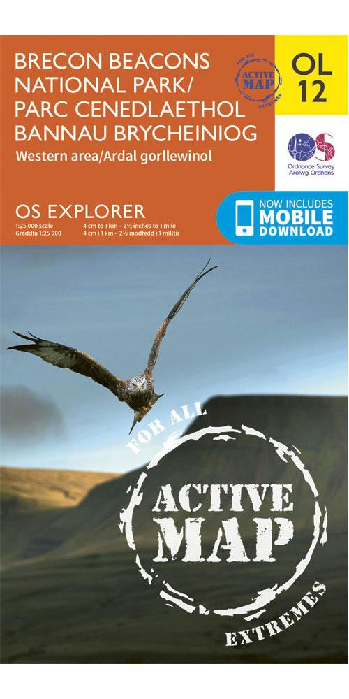 Ordnance Survey Active Explorer OL12: Brecon Beacons National Park – Western & Central  0