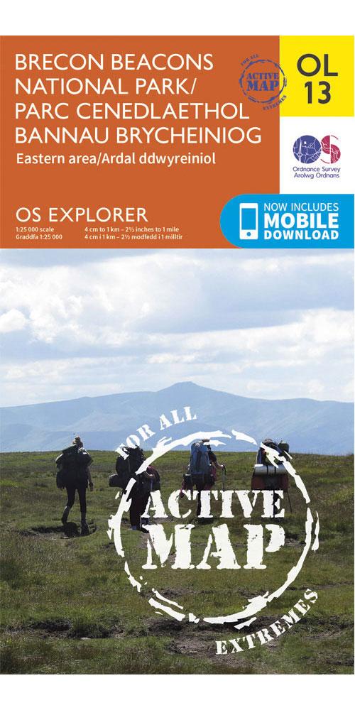 Ordnance Survey Active Explorer OL13: Brecon Beacons National Park – Eastern Area  0