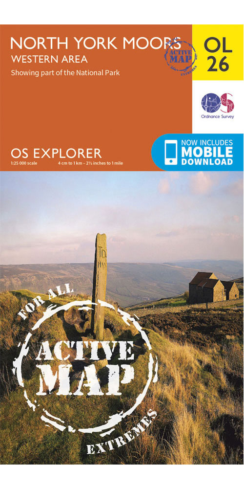 Ordnance Survey Active Explorer OL26: North York Moors – Western Area  0