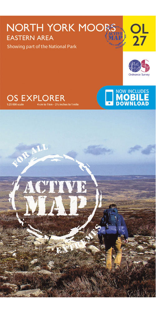Ordnance Survey Active Explorer OL27: North York Moors – Eastern Area  0