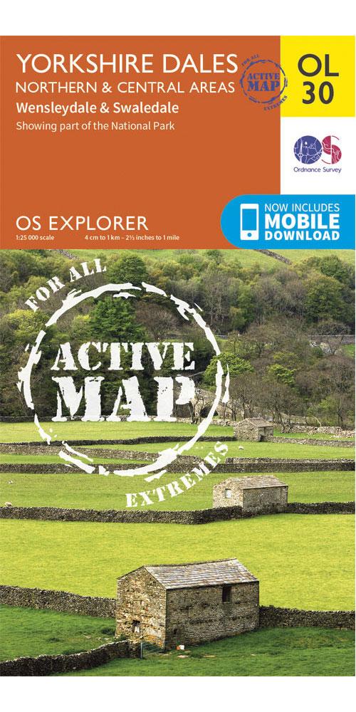 Ordnance Survey Active Explorer OL30: Yorkshire Dales - Northern & Central Areas 0