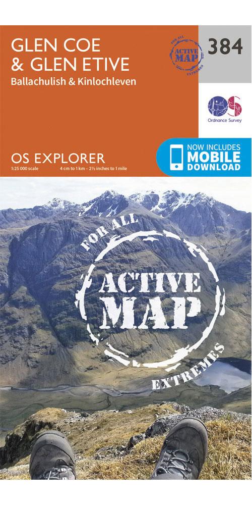 Ordnance Survey Active Explorer 384: Glen Coe  0
