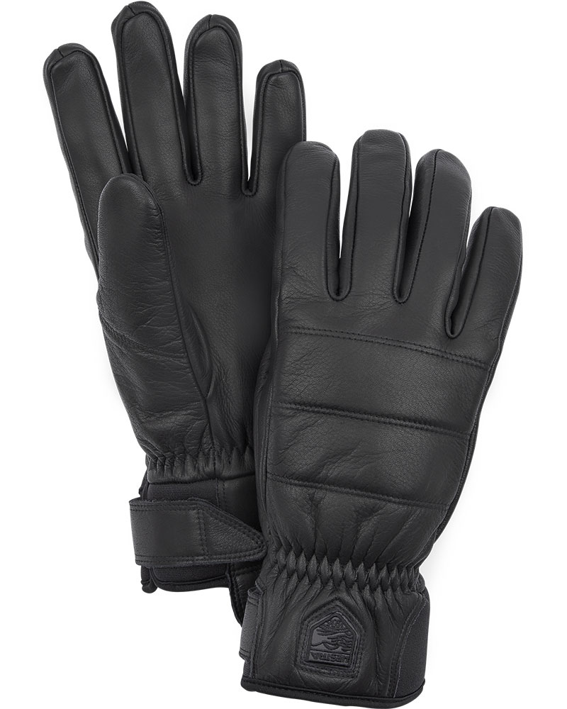 Hestra Women's Alpine Leather Primaloft Ski Gloves Black 0