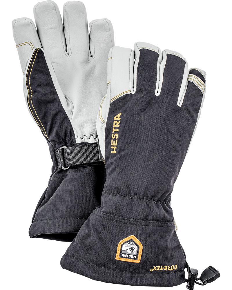 Hestra Men's Army Leather GORE-TEX Ski Gloves Black/White 0