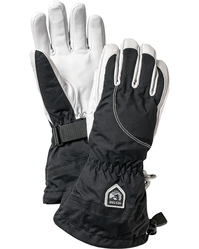 Hestra Women's Heli Ski Gloves Black/White 0