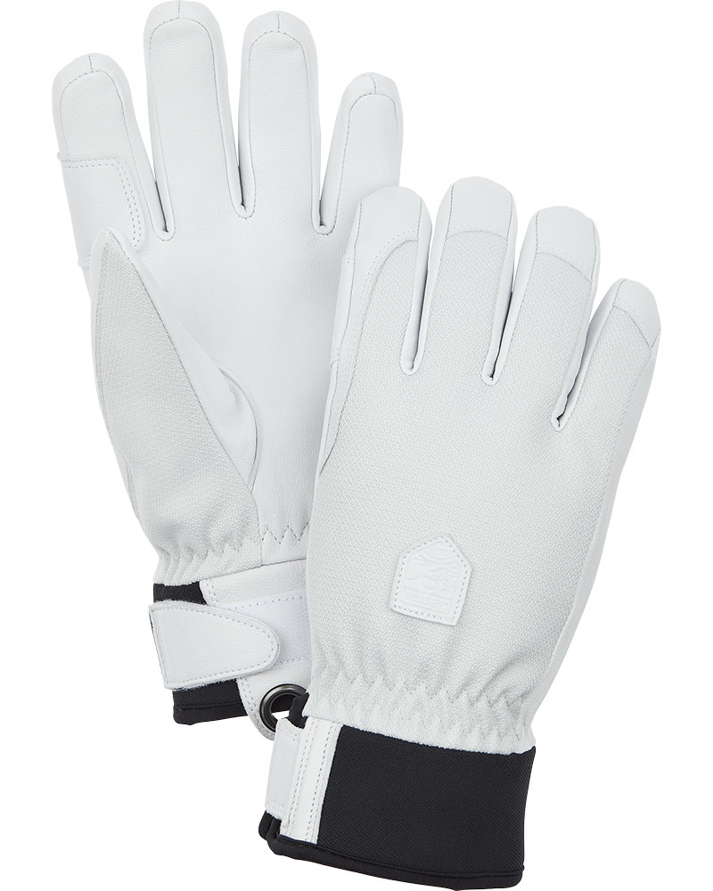 Hestra Women's Army Leather Ski Patrol Gloves Cream/White 0