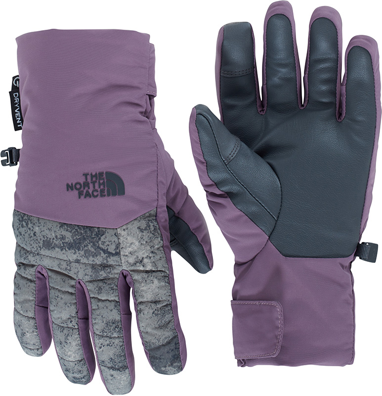 The North Face Women's Guardian DryVent Ski Gloves Black Plum/Peat Grey 0