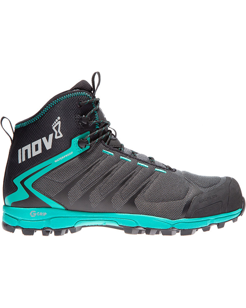 Inov-8 Women's Roclite Hike 370 Graphene Grip Mid Waterproof Walking Boots Black/Teal 0