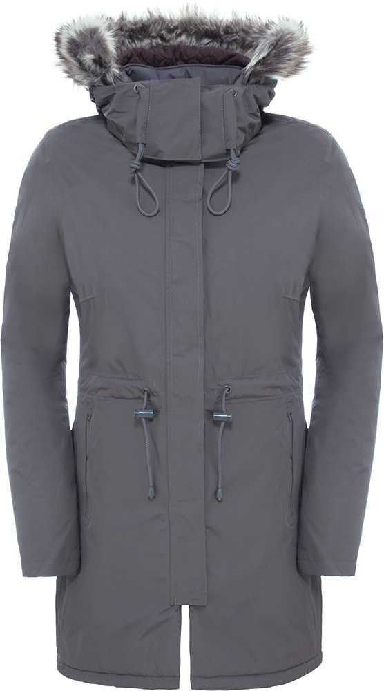 The North Face Women's Zaneck Parka DryVent Jacket Rabbit Grey 0