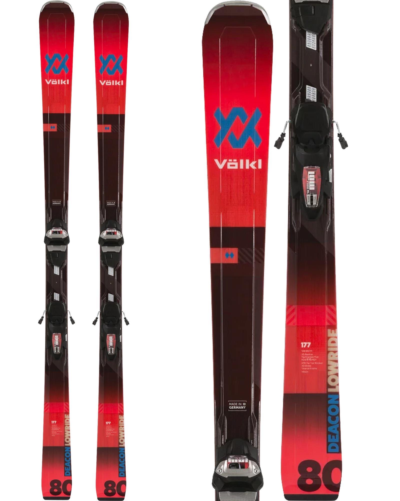 Volkl Men's Deacon 80 Piste Skis + LowRide XL 13 FR Demo GW Bindings 2019 / 2020 0