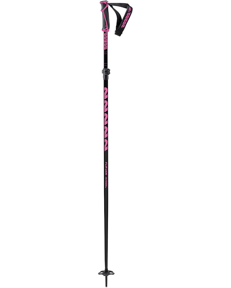 K2 Women's Freeride Flipjaw Black Pink 120 Ski Poles 2019 / 2020 Black/Pink 0