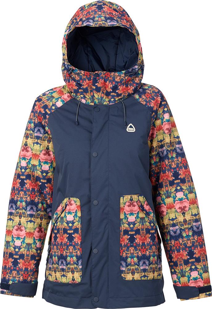 Burton Women's Eastfall Snowsports Jacket 2017 / 2018 Kaleidoscope/Mood Indigo 0