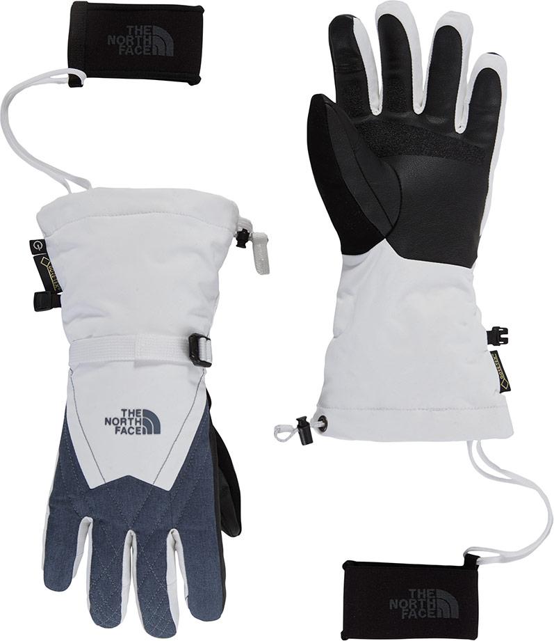 The North Face Women's Montana GORE-TEX Ski Gloves White/Grey Heather 0