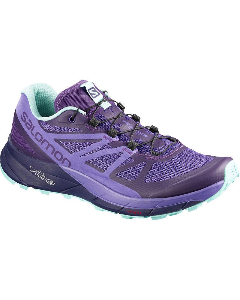 Salomon Women's Sense Ride Trail Running Shoes Parachute Purple/Purple Opulence/Beach Glass 0