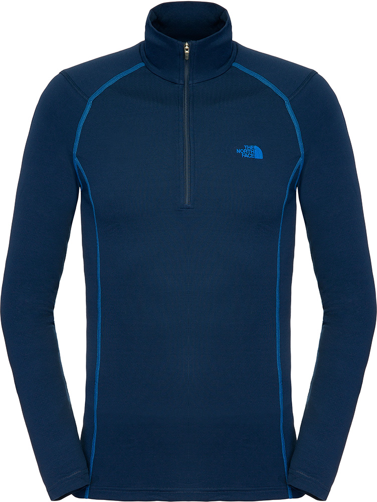 The North Face Men's Warm L/S Zip Neck Base Layer Cosmic Blue 0