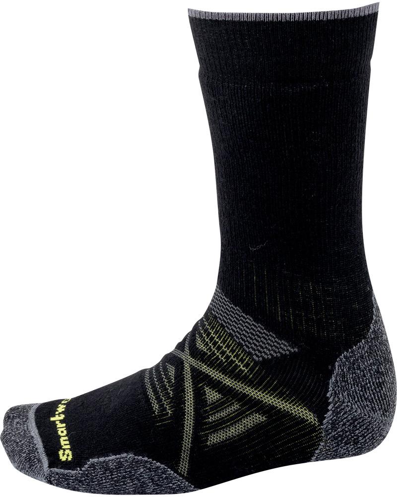 Smartwool Men's Merino PhD Outdoor Medium Crew Socks Black 0