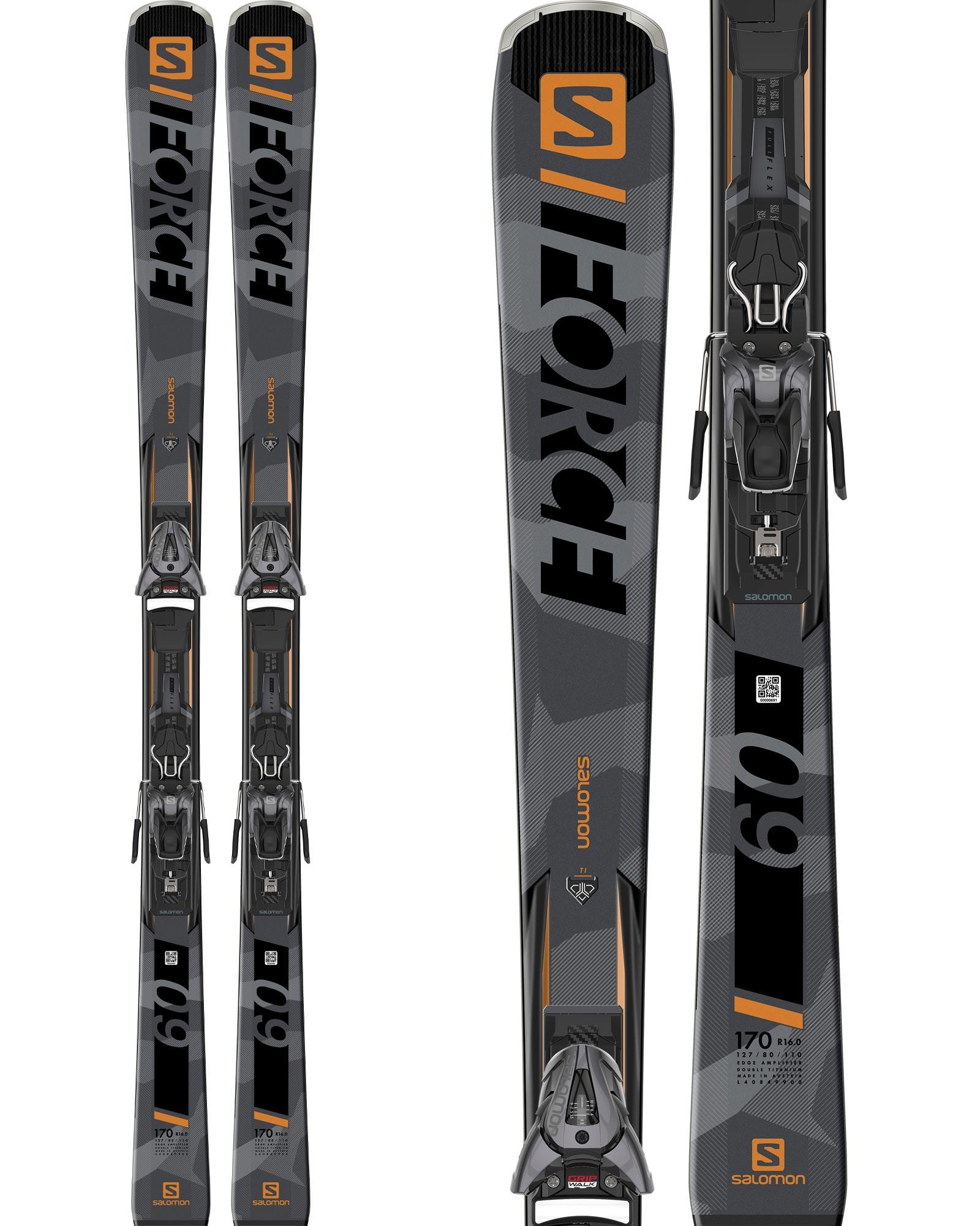 Salomon S /Force 9 Skis + Z10 GW Bindings 2020 0