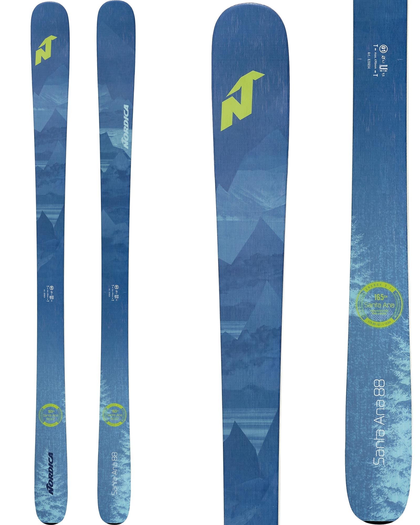 Nordica Santa Ana 88 Women's Skis 2020 0