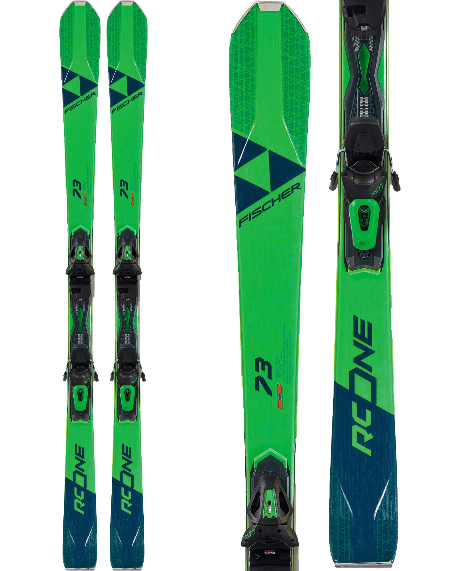 Fischer RC One 73 Skis + RS 11 GW P Bindings 2020 0