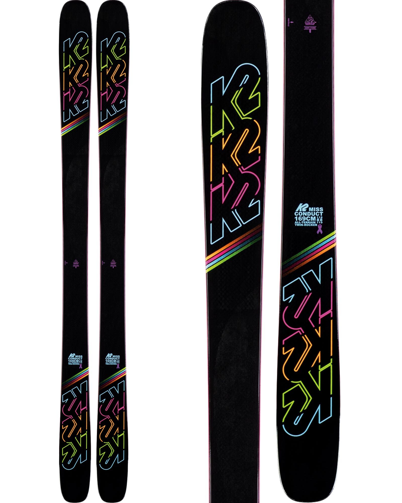K2 Women's MissConduct Freestyle Skis 2019 / 2020 0