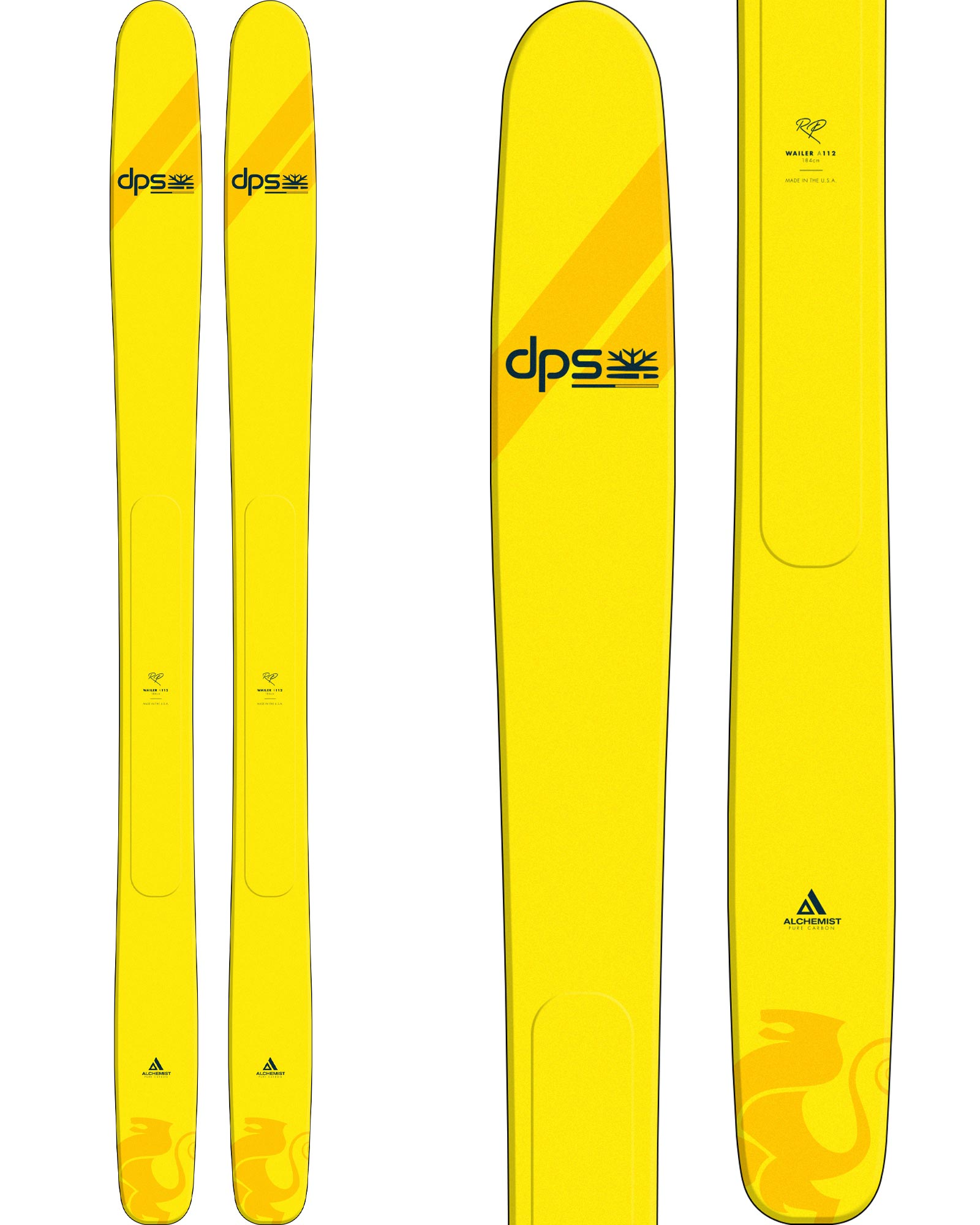 DPS Men's Wailer A112 RP Freeride Skis 2020 / 2021 0