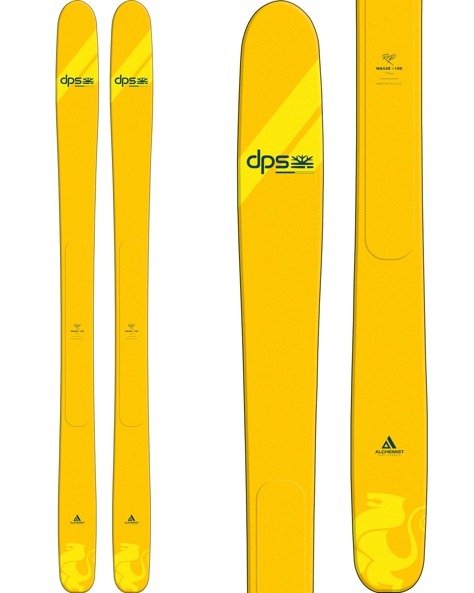 DPS Men's Wailer A100 RP Freeride Skis 2020 / 2021 0