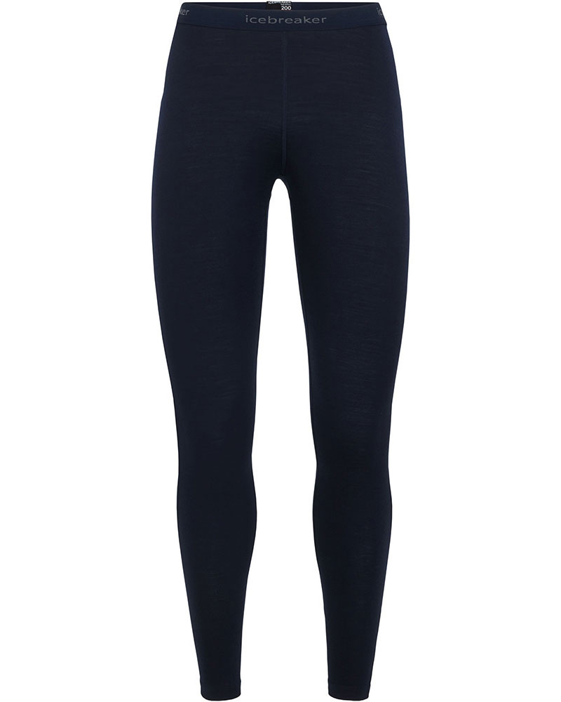 Icebreaker Women's Merino Bodyfit 200 Oasis Leggings Midnight Navy 0