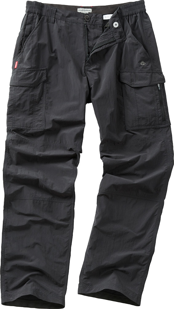 Craghoppers Men's NosiLife Cargo Walking Trousers Black Pepper 0