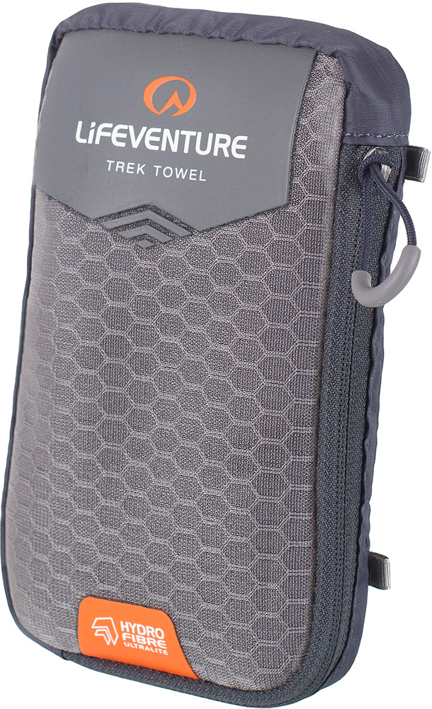 Lifeventure HydroFibre Trek Towel - Large Grey 0