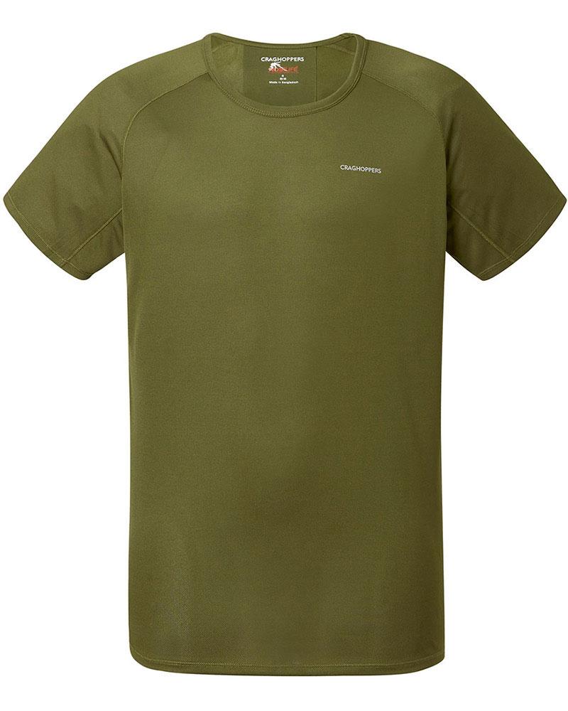 Craghoppers Men's S/S NosiLife Baselayer T-Shirt Dark Moss 0