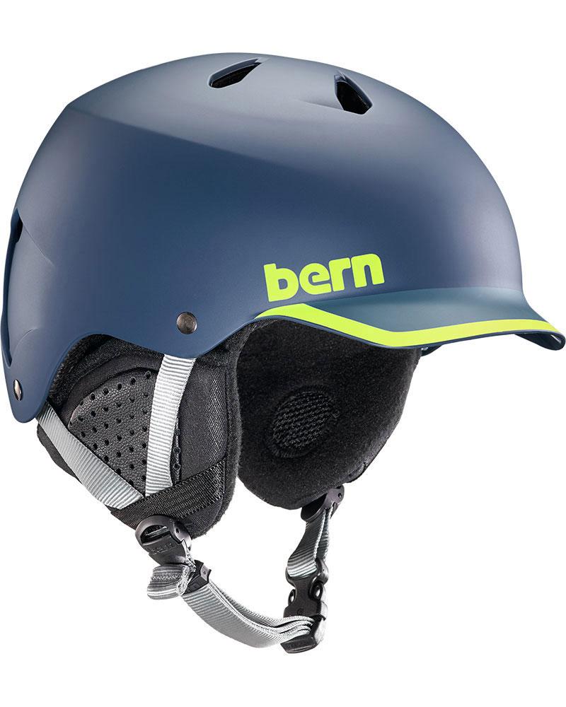 Bern Watts Snowsports Helmet 2019 / 2020 Matte Navy/Hyper Green Trim 0