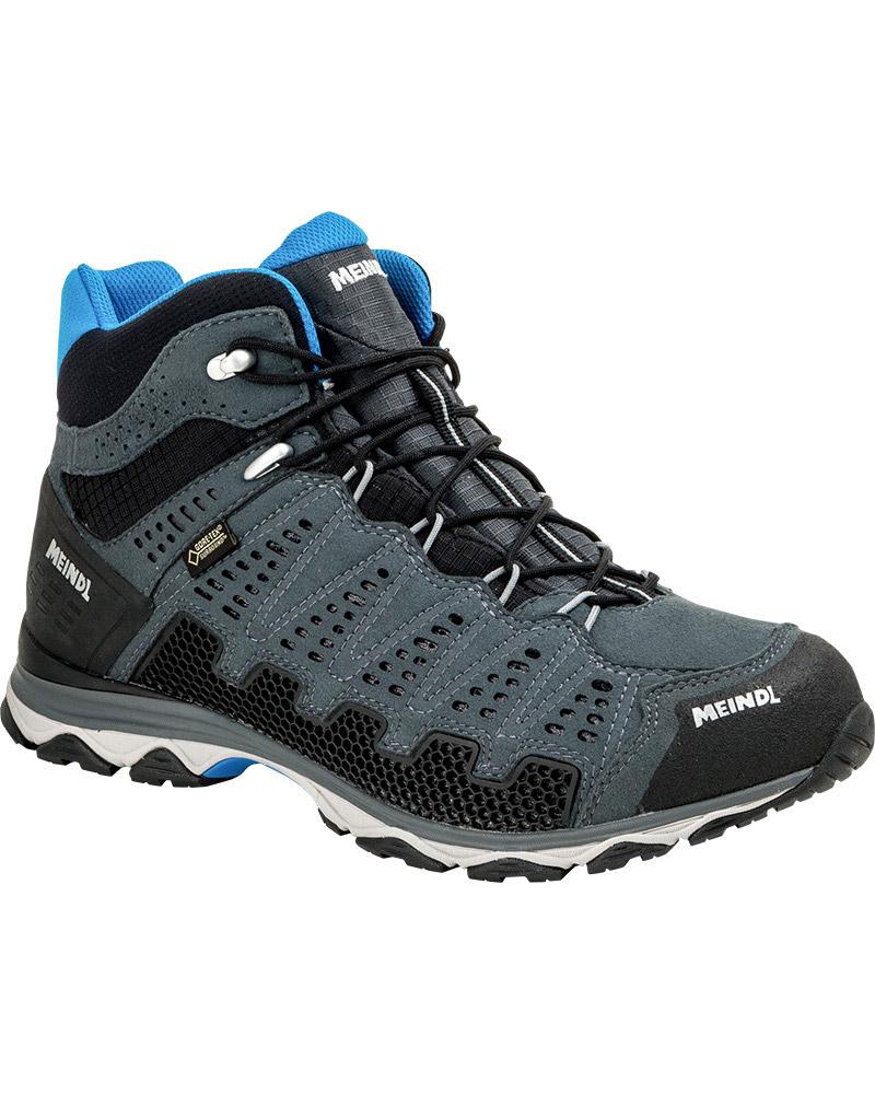 Meindl Men's X-SO 70 Mid GORE-TEX Surround Walking Boots Anthracite/Blue 0