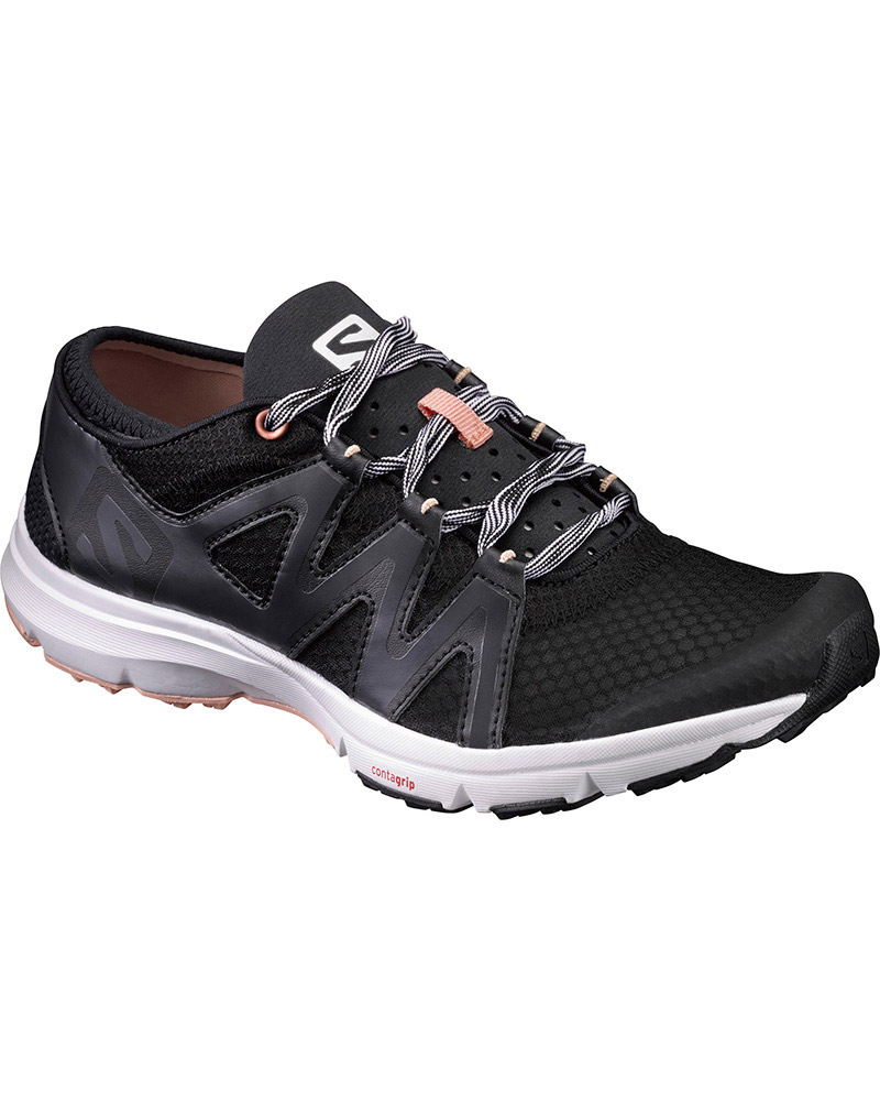 Salomon Women's Crossamphibian Swift Walking Shoes Black/Phantom/Peach Nectar 0