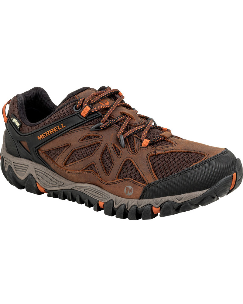 Merrell Men's All Out Blaze Vent GORE-TEX Walking Shoes Burnt Maple 0