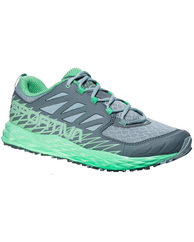 La Sportiva Women's Lycan Trail Running Shoes Stone Blue/Jade Green 0