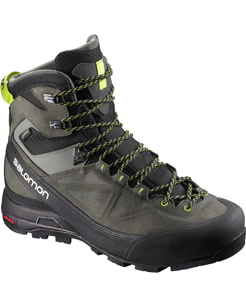 Salomon Men's Alp Mountain GORE-TEX Mountaineering Boots Black/Beluga/Lime Punch 0