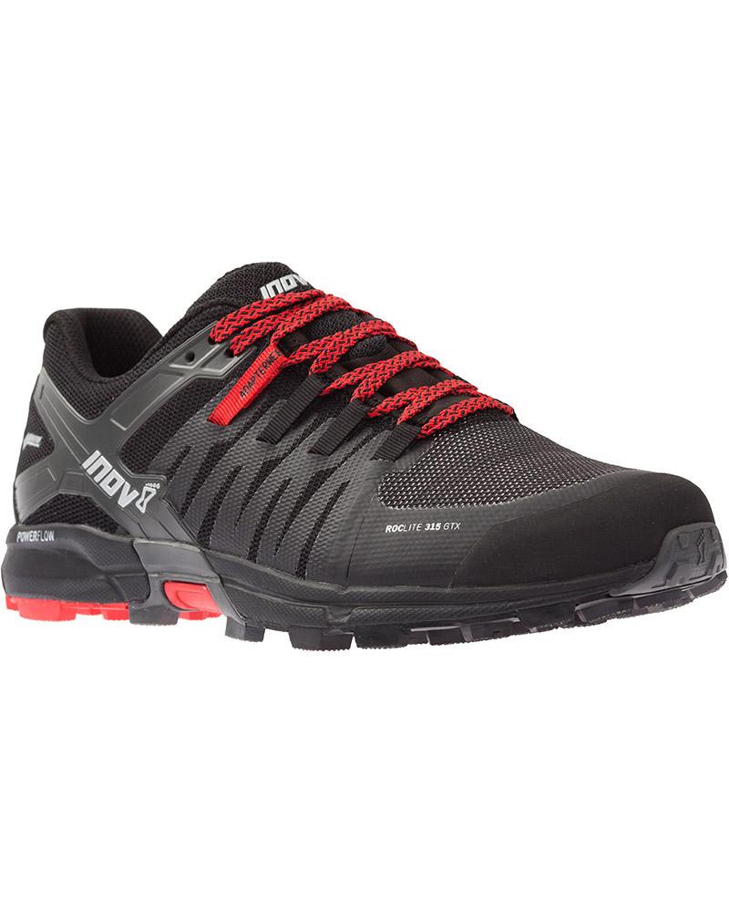 Inov-8 Men's Roclite 315 GORE-TEX IF Trail Running Shoes Black/Red 0